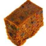 a piece of fruit cake
